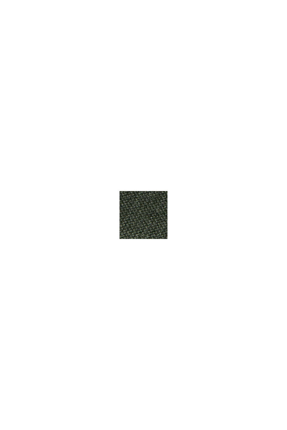 Bateau neckline jumper made of organic cotton, KHAKI GREEN, swatch