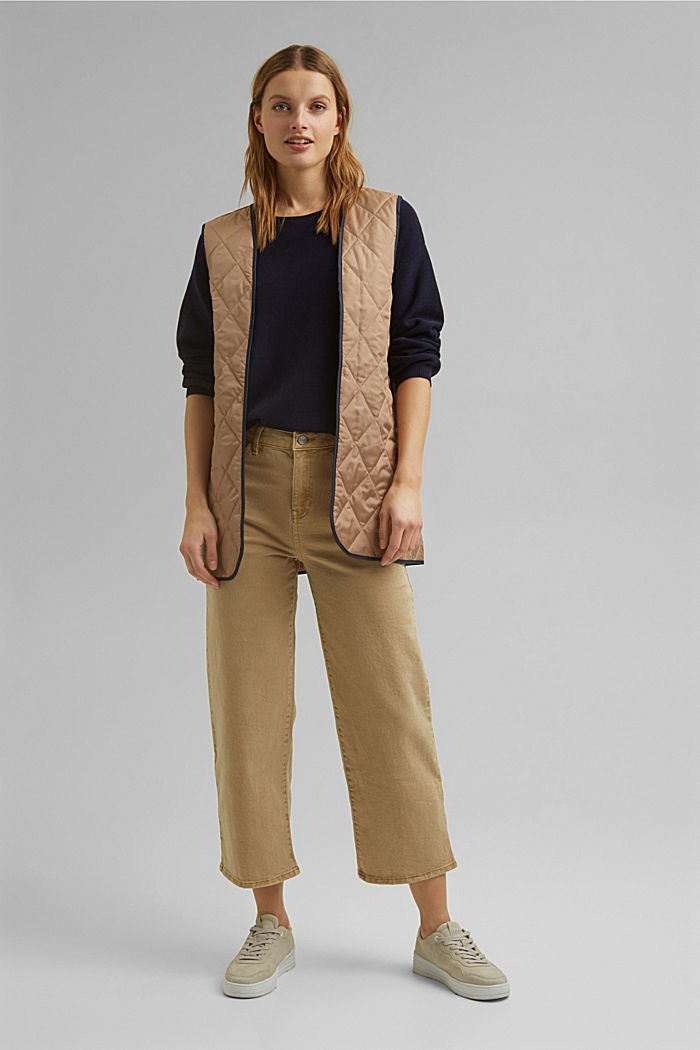 Bateau neckline jumper made of organic cotton, NAVY, detail image number 1