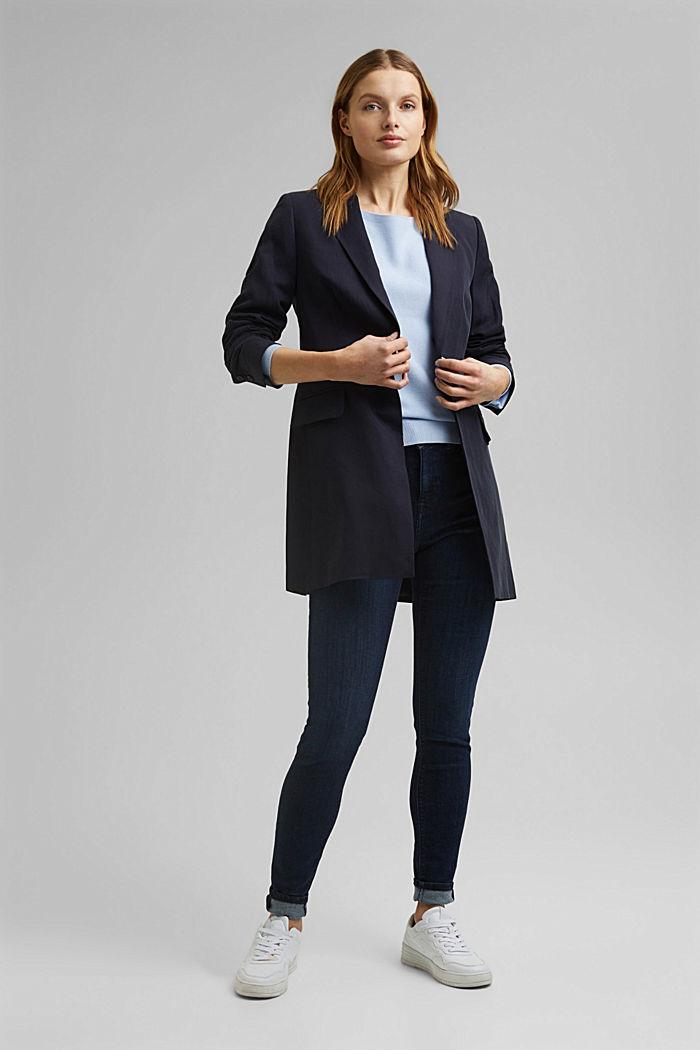 Bateau neckline jumper made of organic cotton, PASTEL BLUE, detail image number 1