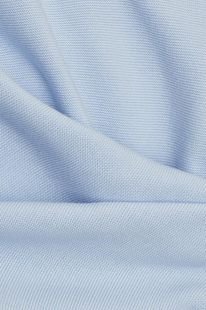 Bateau neckline jumper made of organic cotton, PASTEL BLUE, detail image number 4