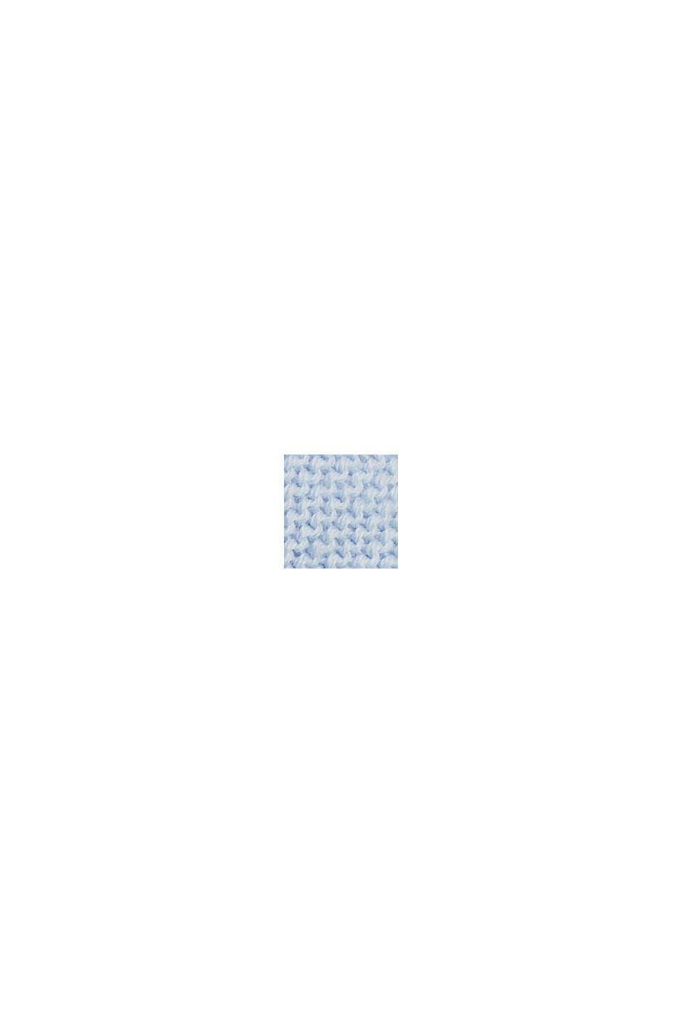 Bateau neckline jumper made of organic cotton, PASTEL BLUE, swatch