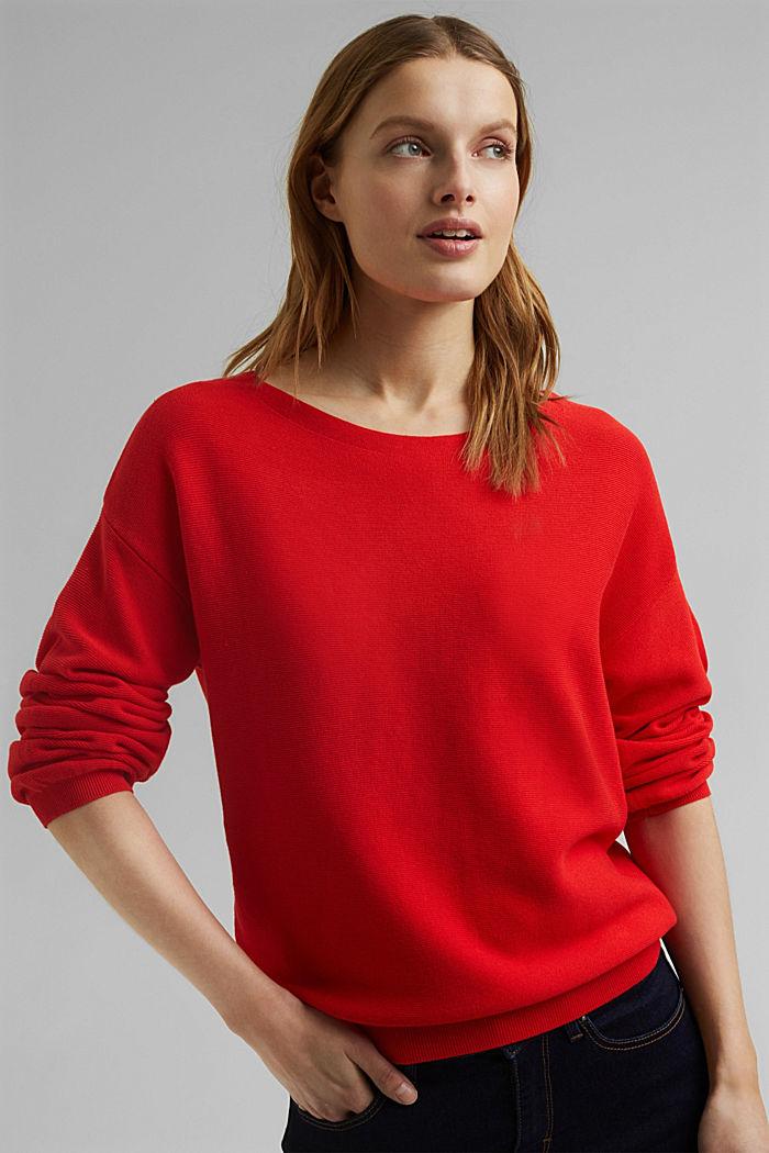 U-Boot-Pullover aus Organic Cotton