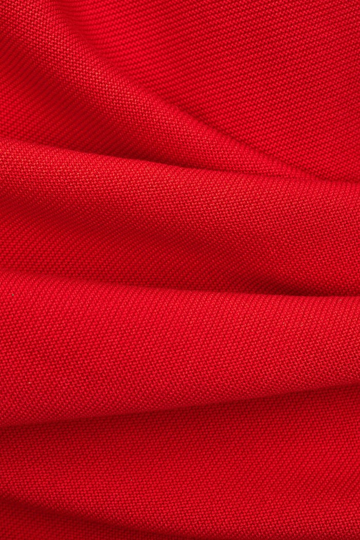 Bateau neckline jumper made of organic cotton, RED, detail image number 4