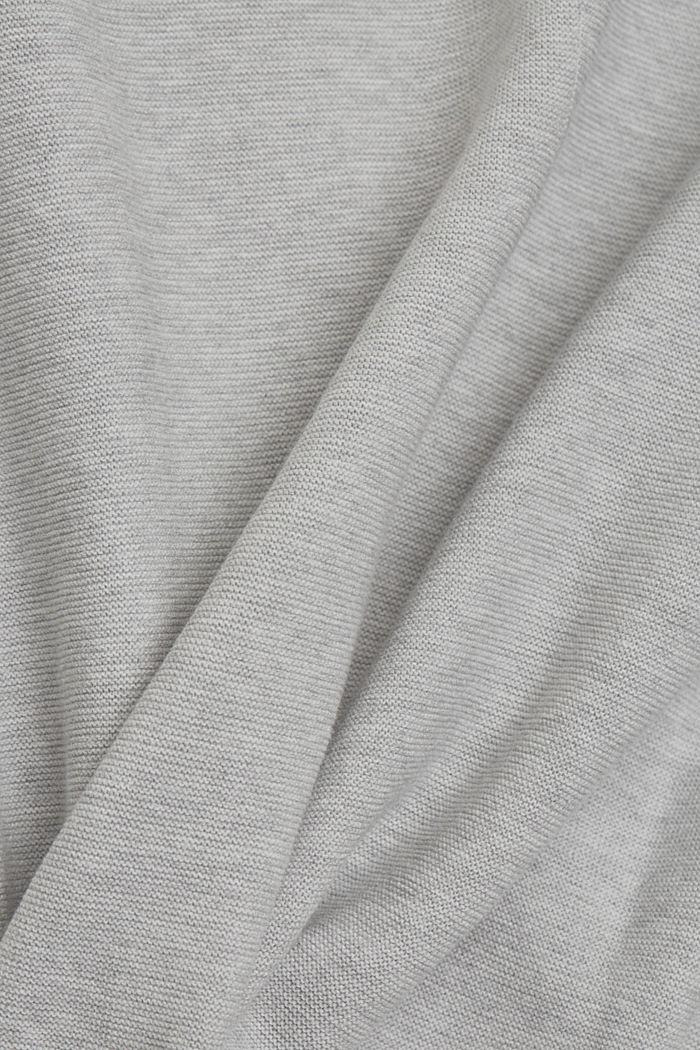 V-neck jumper made of organic cotton, LIGHT GREY, detail image number 4