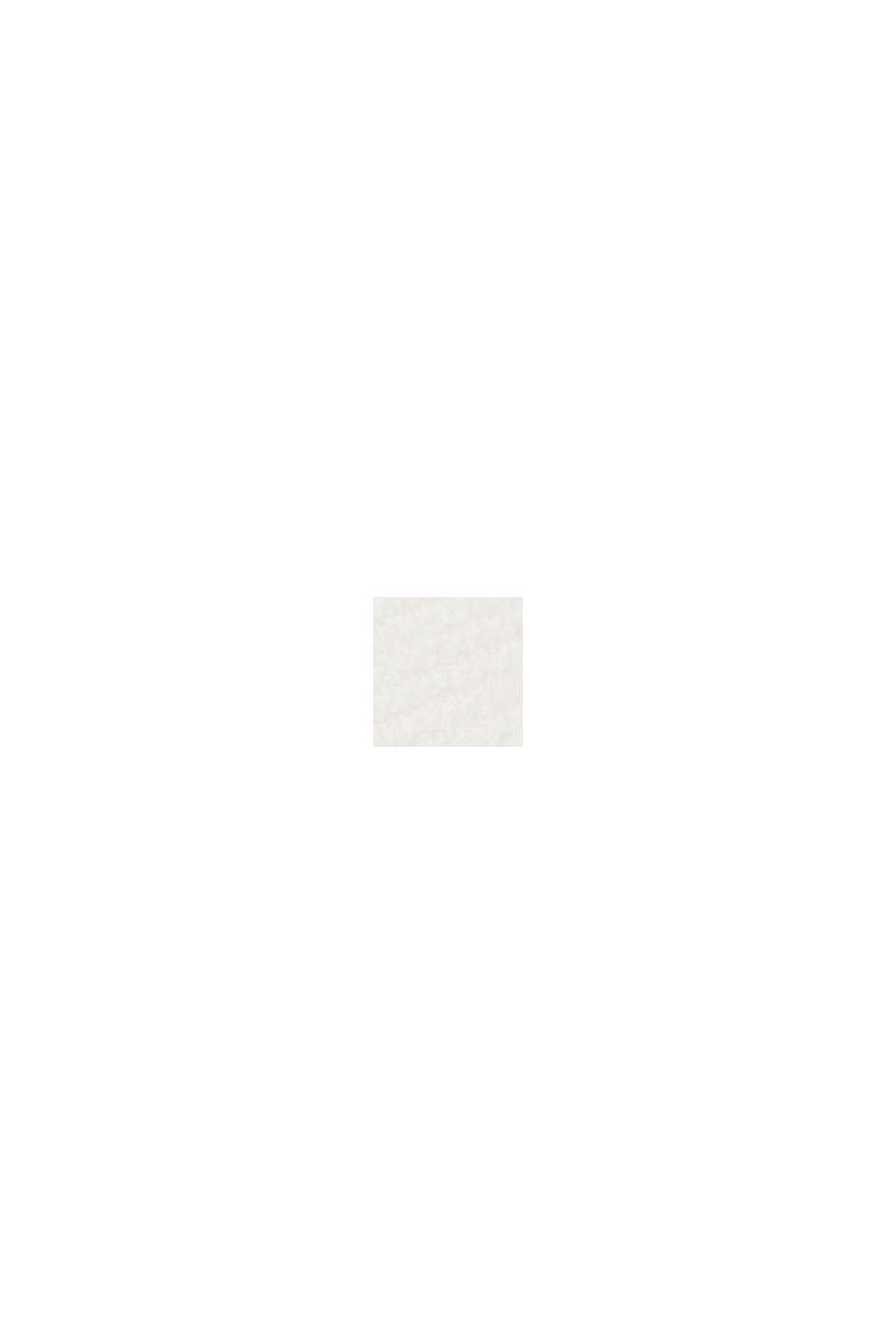 Pullover con scollo a V in cotone biologico, OFF WHITE, swatch