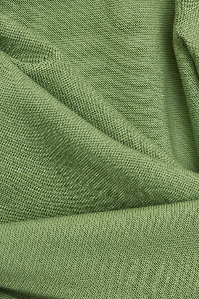 V-neck jumper made of organic cotton, LEAF GREEN, detail image number 4