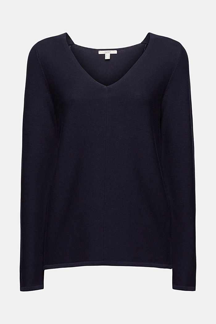 V-Neck-Pullover aus Organic Cotton