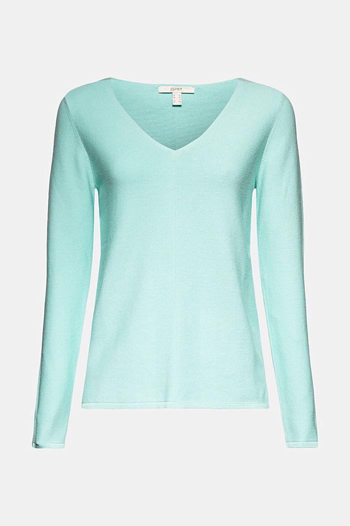 V-neck jumper made of organic cotton