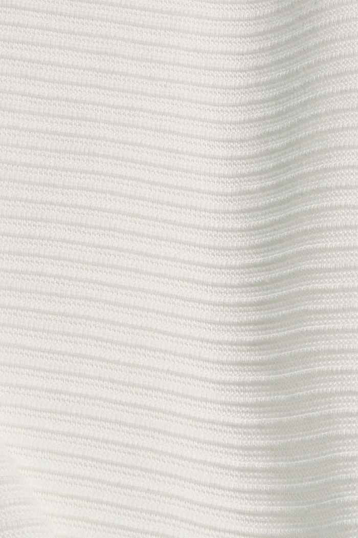 Pullover mit Rippen-Struktur, Bio-Baumwolle, OFF WHITE, detail image number 4