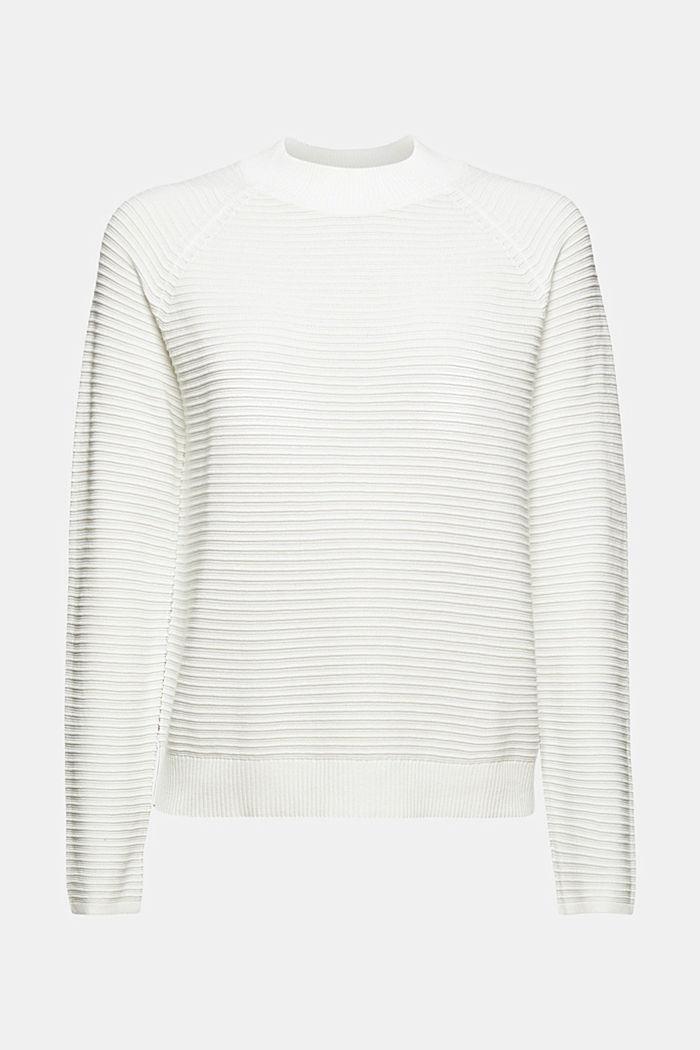 Pullover med ribstruktur, økologisk bomuld