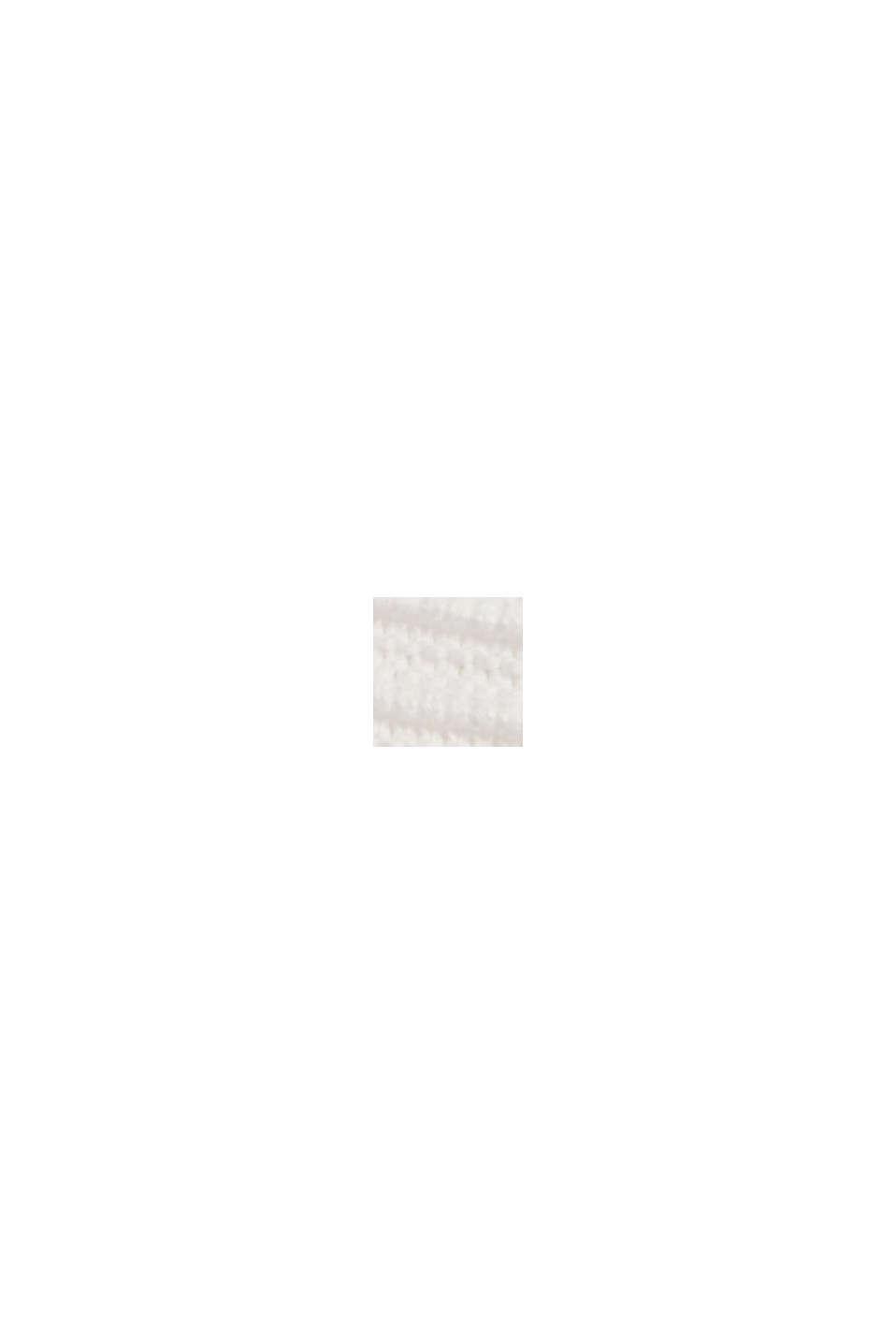 Pullover med ribstruktur, økologisk bomuld, OFF WHITE, swatch