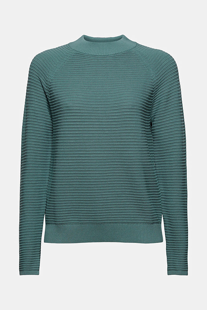 Jumper with a ribbed texture, organic cotton