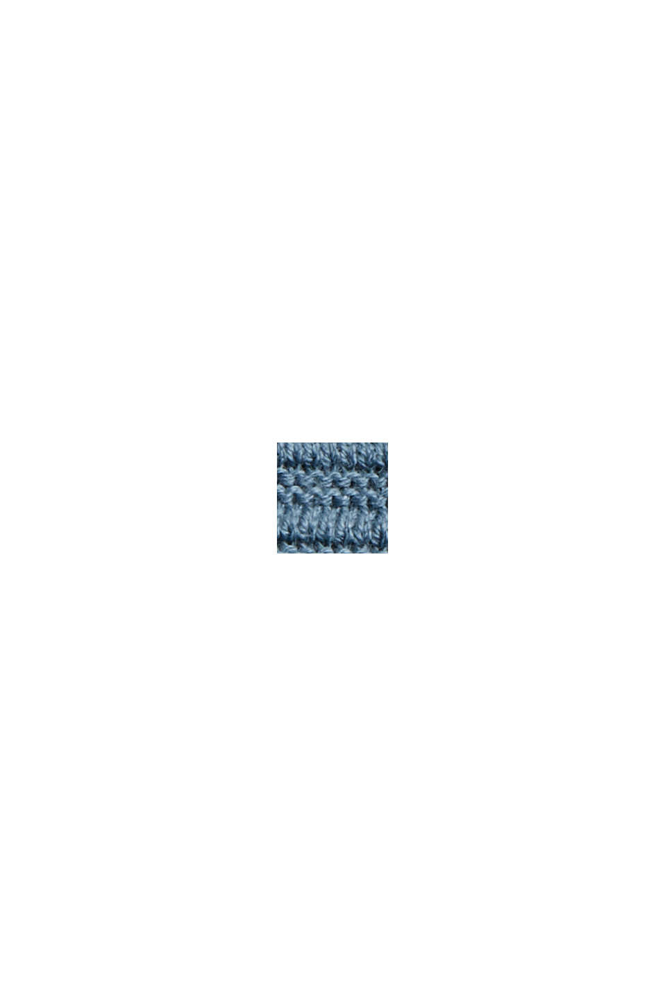 Ribbet cardigan i 100% økobomuld uden lukning, GREY BLUE, swatch