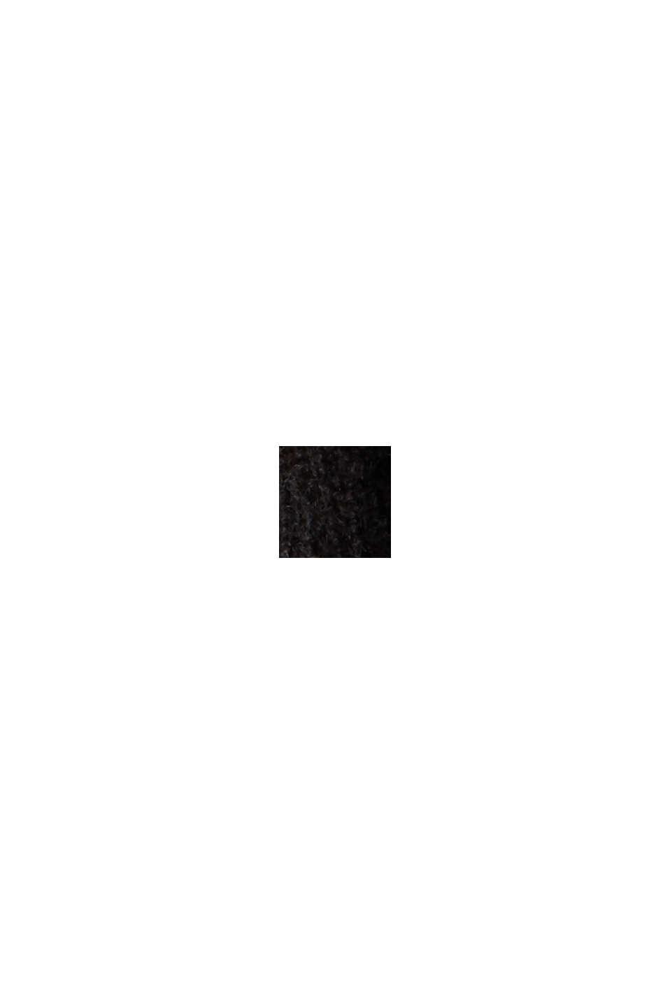 Met wol: trui met V-hals, BLACK, swatch