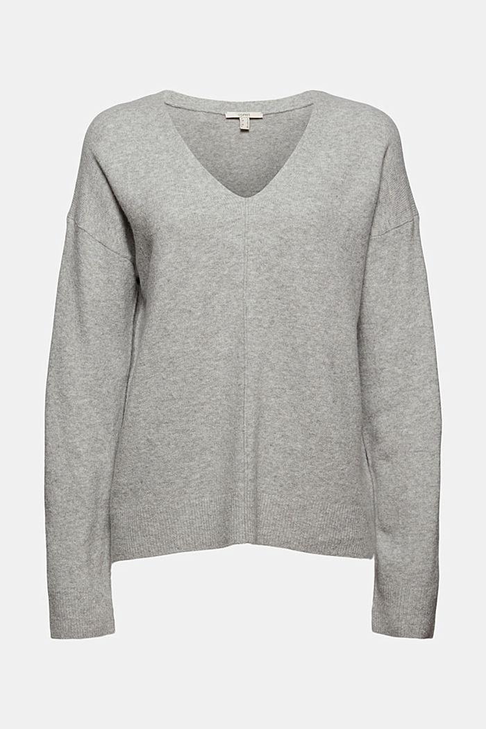 À teneur en laine: le pull-over à encolure en V