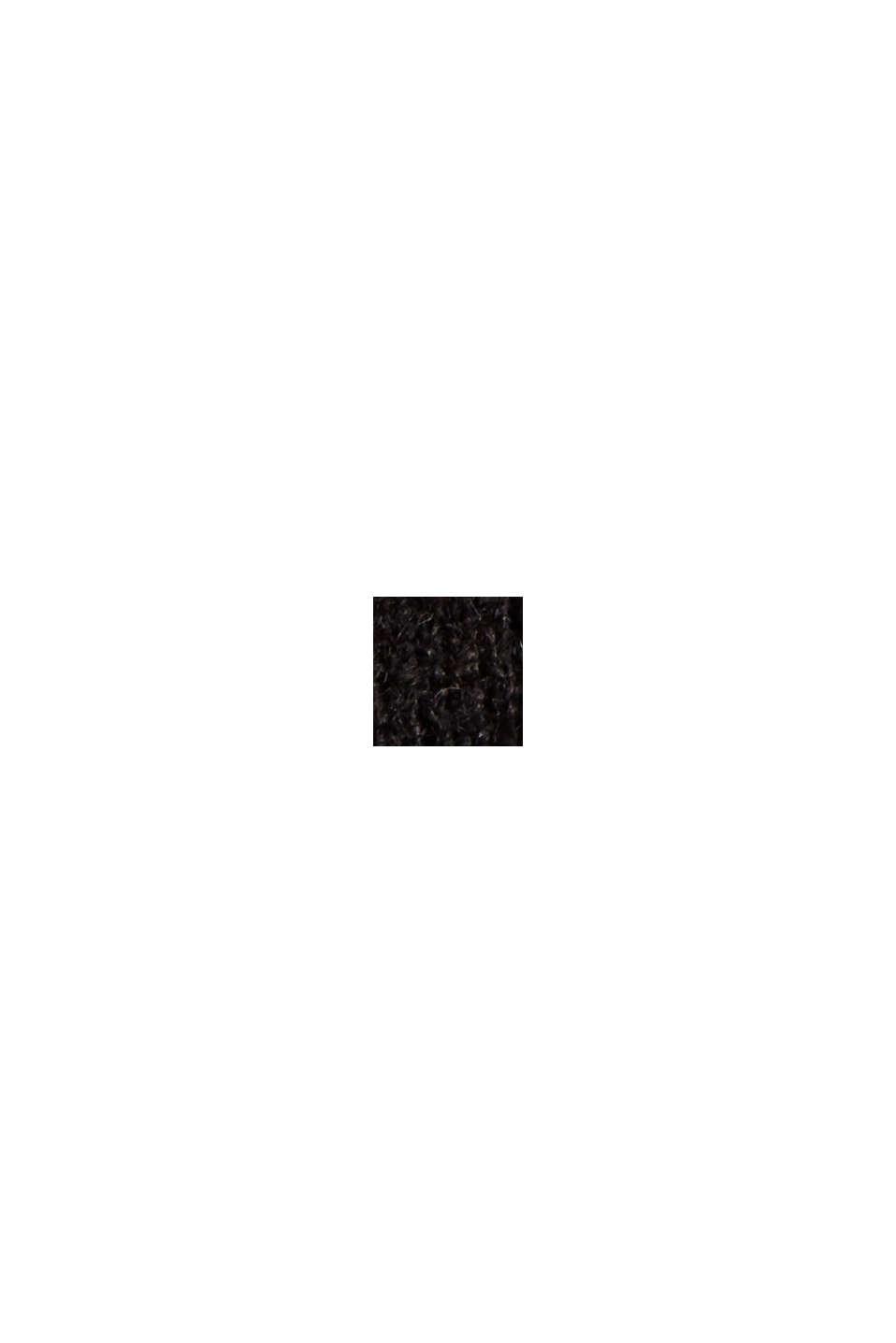 Z wełną: kardigan z dekoltem w serek, BLACK, swatch