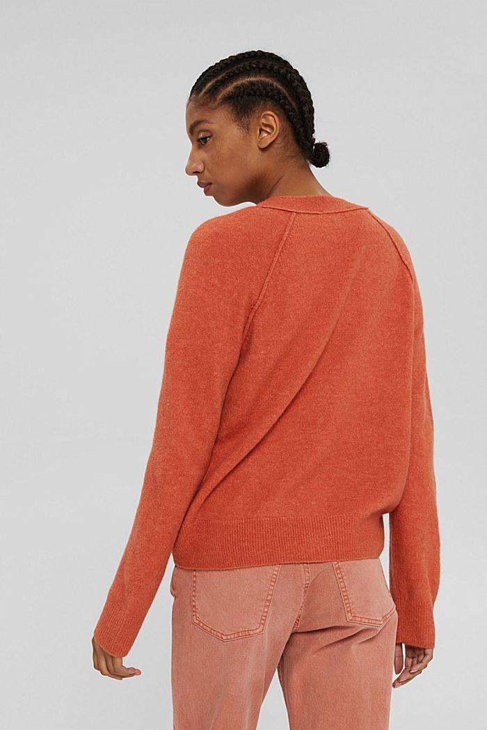 À teneur en laine: cardigan à encolure en V, BLUSH, detail image number 3