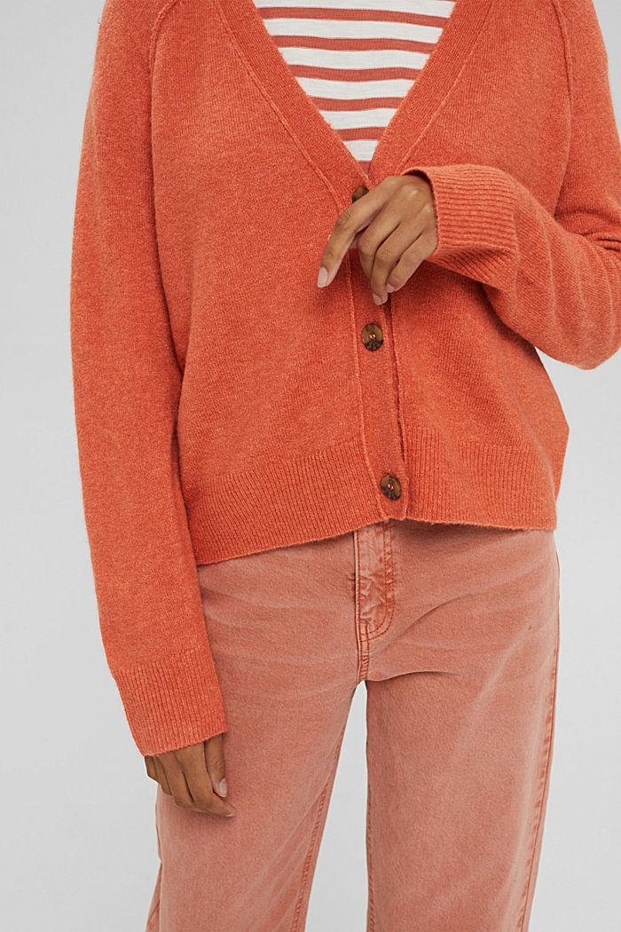 À teneur en laine: cardigan à encolure en V, BLUSH, detail image number 2
