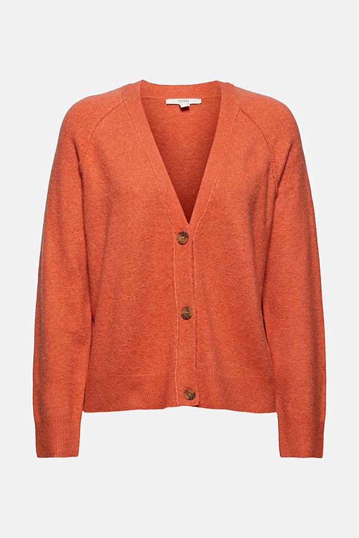 À teneur en laine: cardigan à encolure en V, BLUSH, detail image number 6