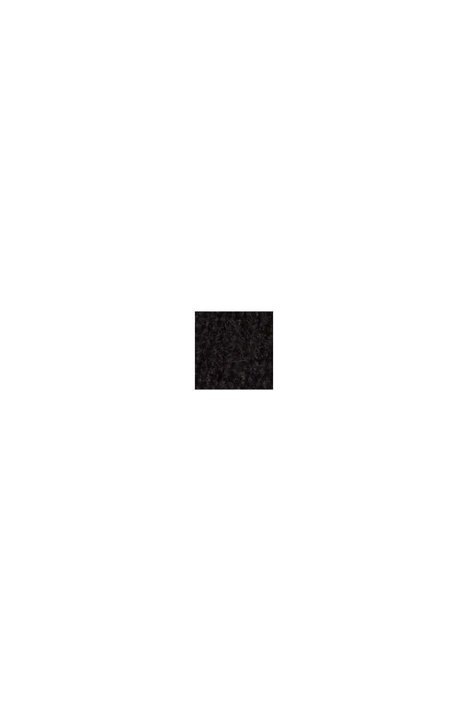 À teneur en laine : le cardigan ouvert de coupe longue, BLACK, swatch