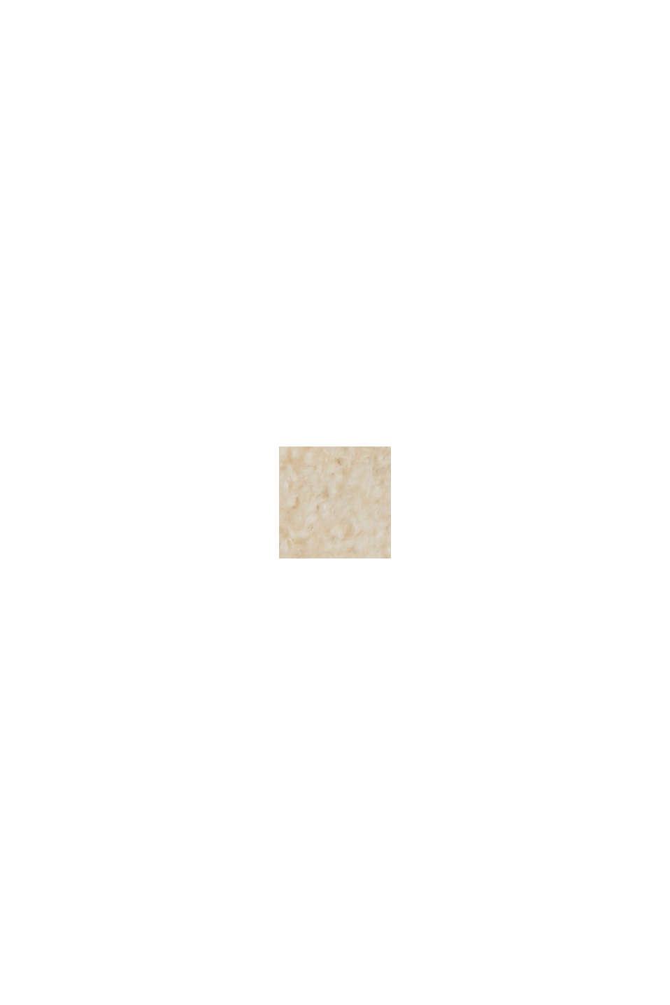 À teneur en laine : le cardigan ouvert de coupe longue, SAND, swatch