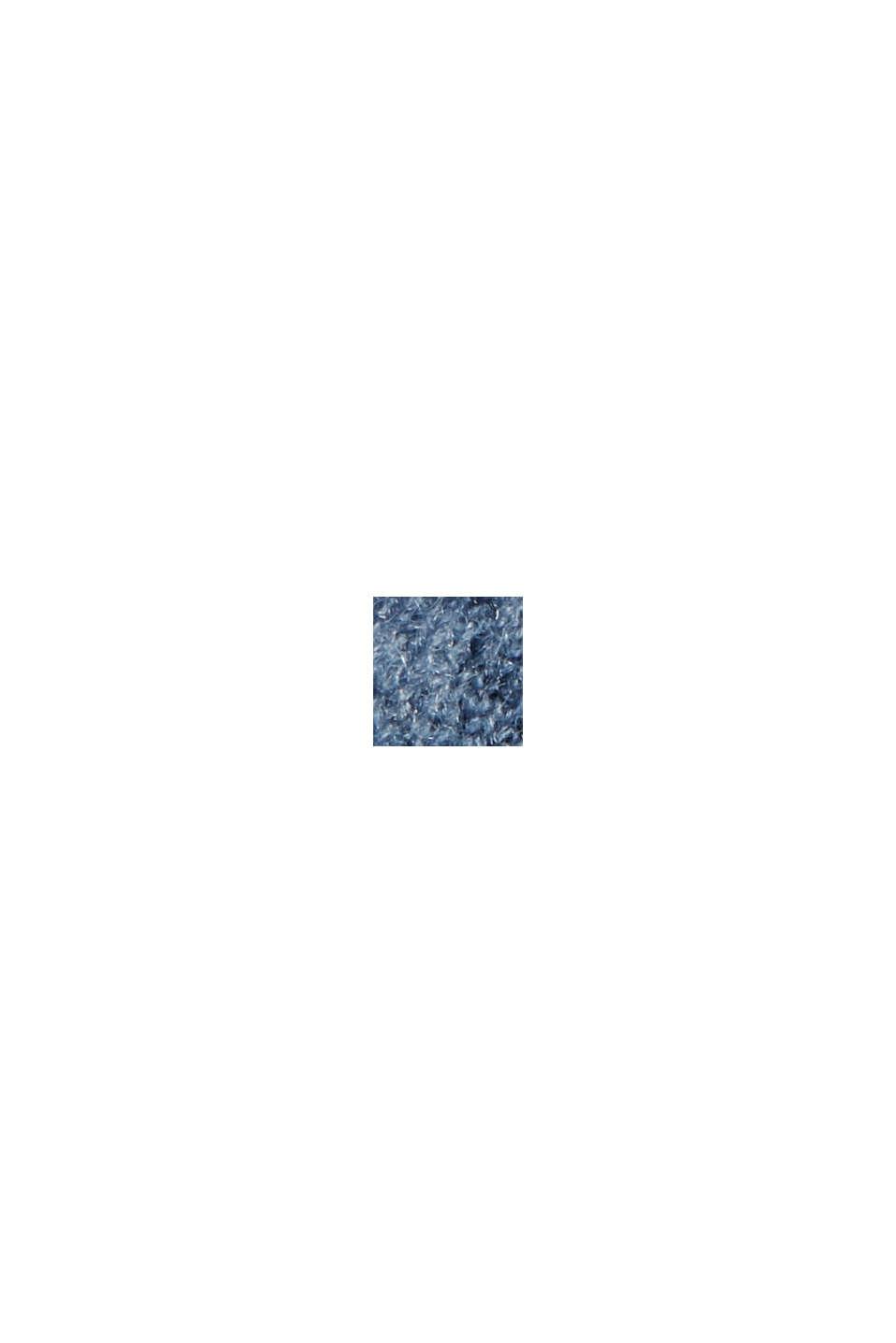 À teneur en laine : le cardigan ouvert de coupe longue, GREY BLUE, swatch