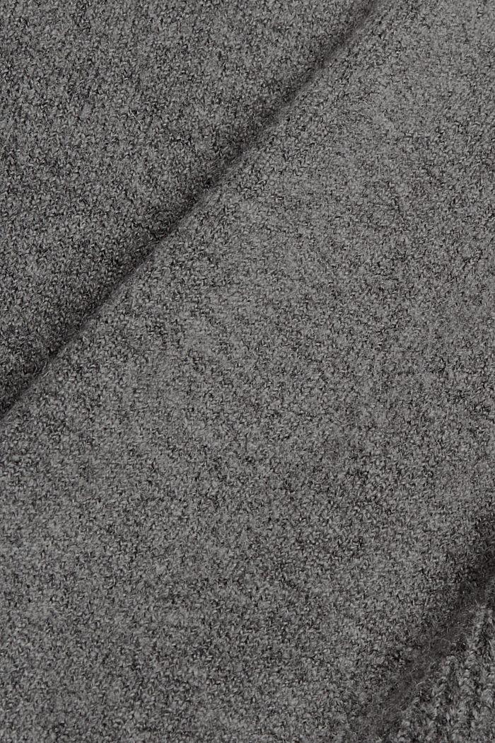 Con lana: pullover con collo a lupetto, GUNMETAL, detail image number 4