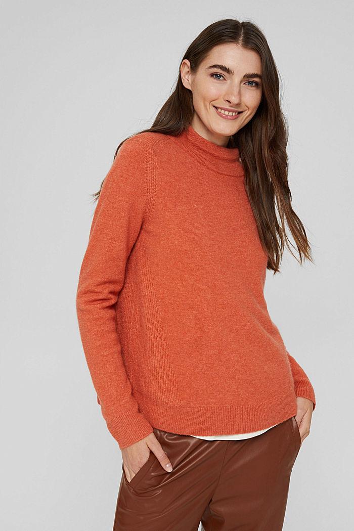 À teneur en laine : le pull-over à col droit, BLUSH, detail image number 0