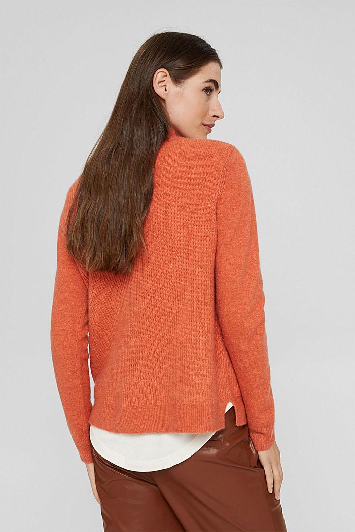 À teneur en laine : le pull-over à col droit, BLUSH, detail image number 3
