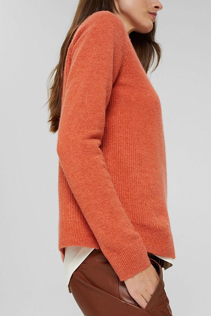 À teneur en laine : le pull-over à col droit, BLUSH, detail image number 2
