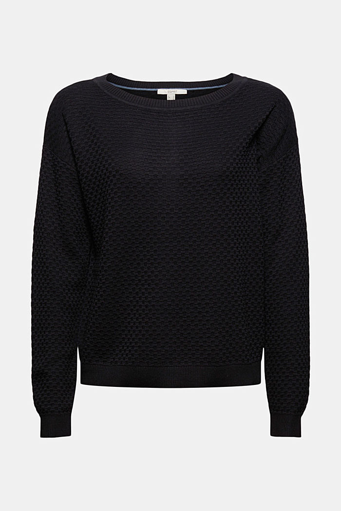 Pullover mit Waffelstruktur, 100% Baumwolle