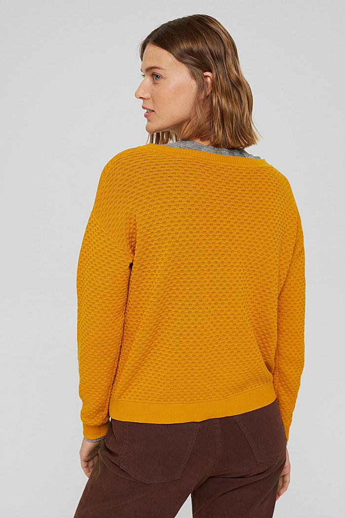 Sweaters, HONEY YELLOW, detail image number 3