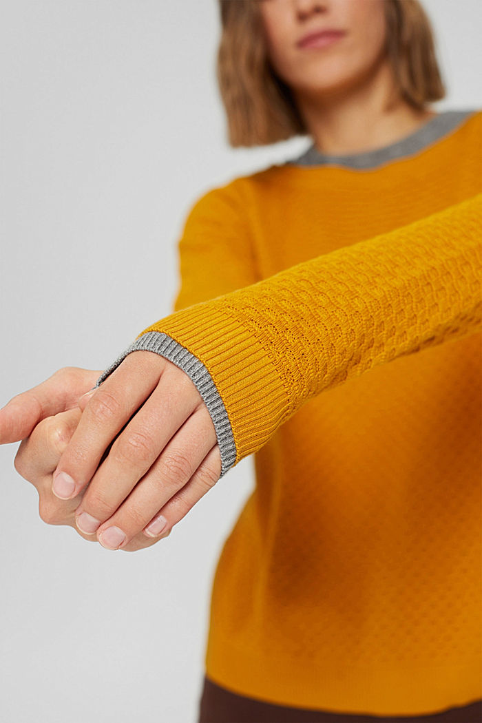 Sweaters, HONEY YELLOW, detail image number 2