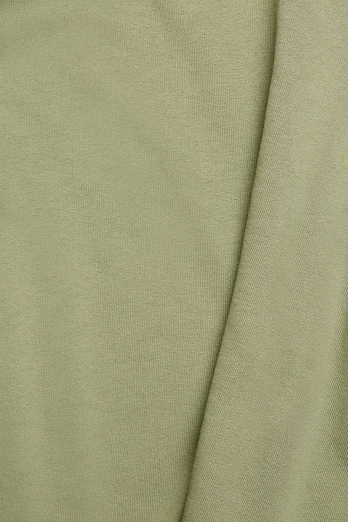 Organic cotton sweatshirt, LIGHT KHAKI, detail image number 4