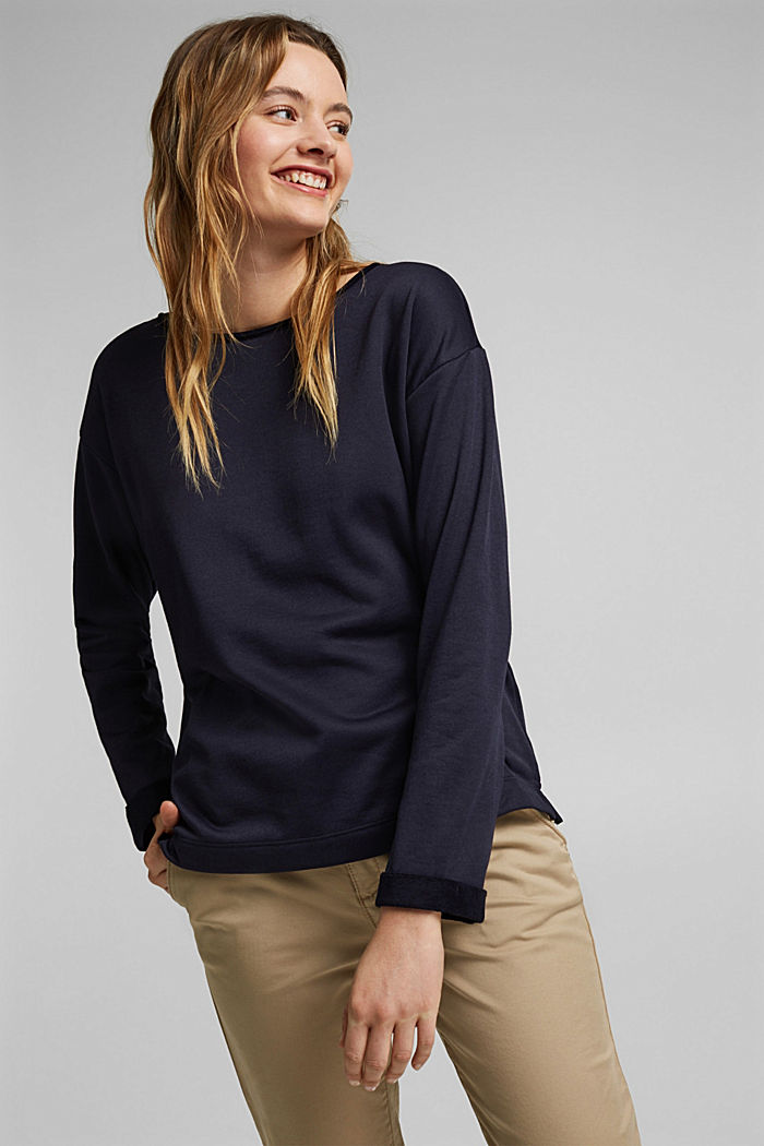 Organic cotton sweatshirt, NAVY, detail image number 0
