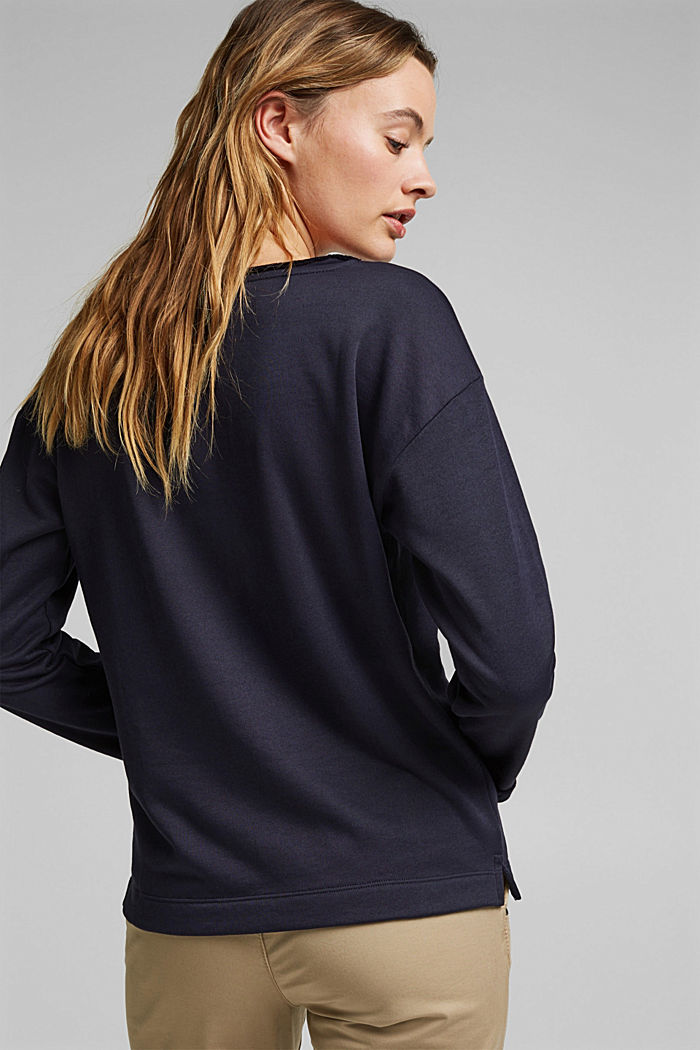 Organic cotton sweatshirt, NAVY, detail image number 3