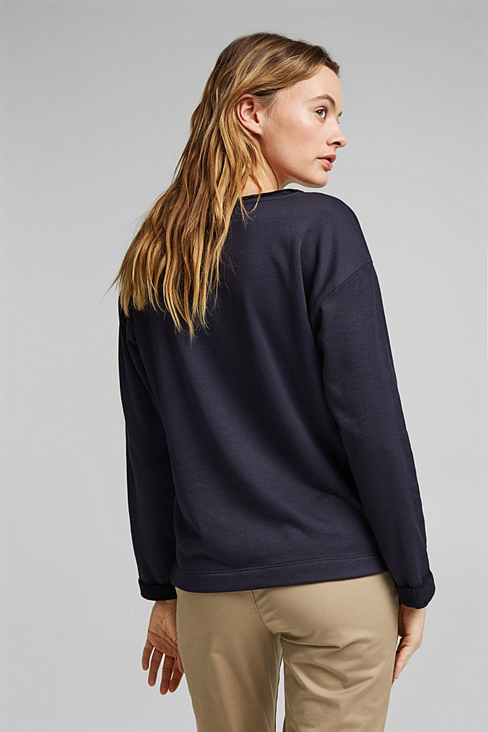 Organic cotton sweatshirt, NAVY, detail image number 5