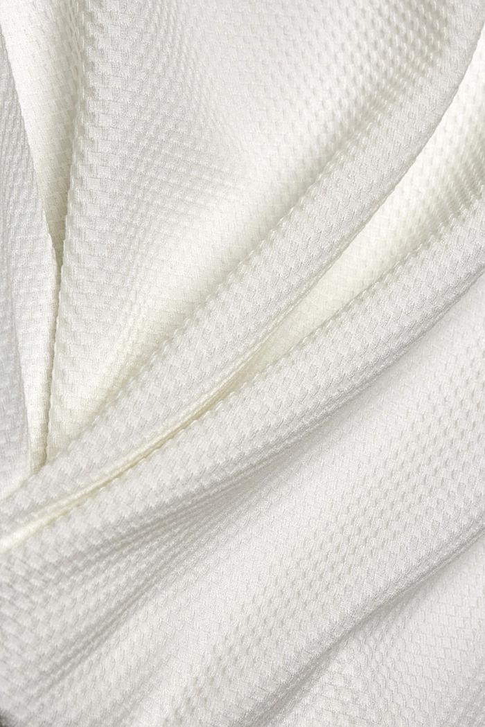 Fakturowana bluza z krótkim rękawem, OFF WHITE, detail image number 4