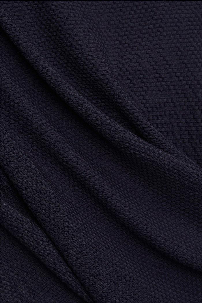 Textured short-sleeved sweatshirt, NAVY, detail image number 4