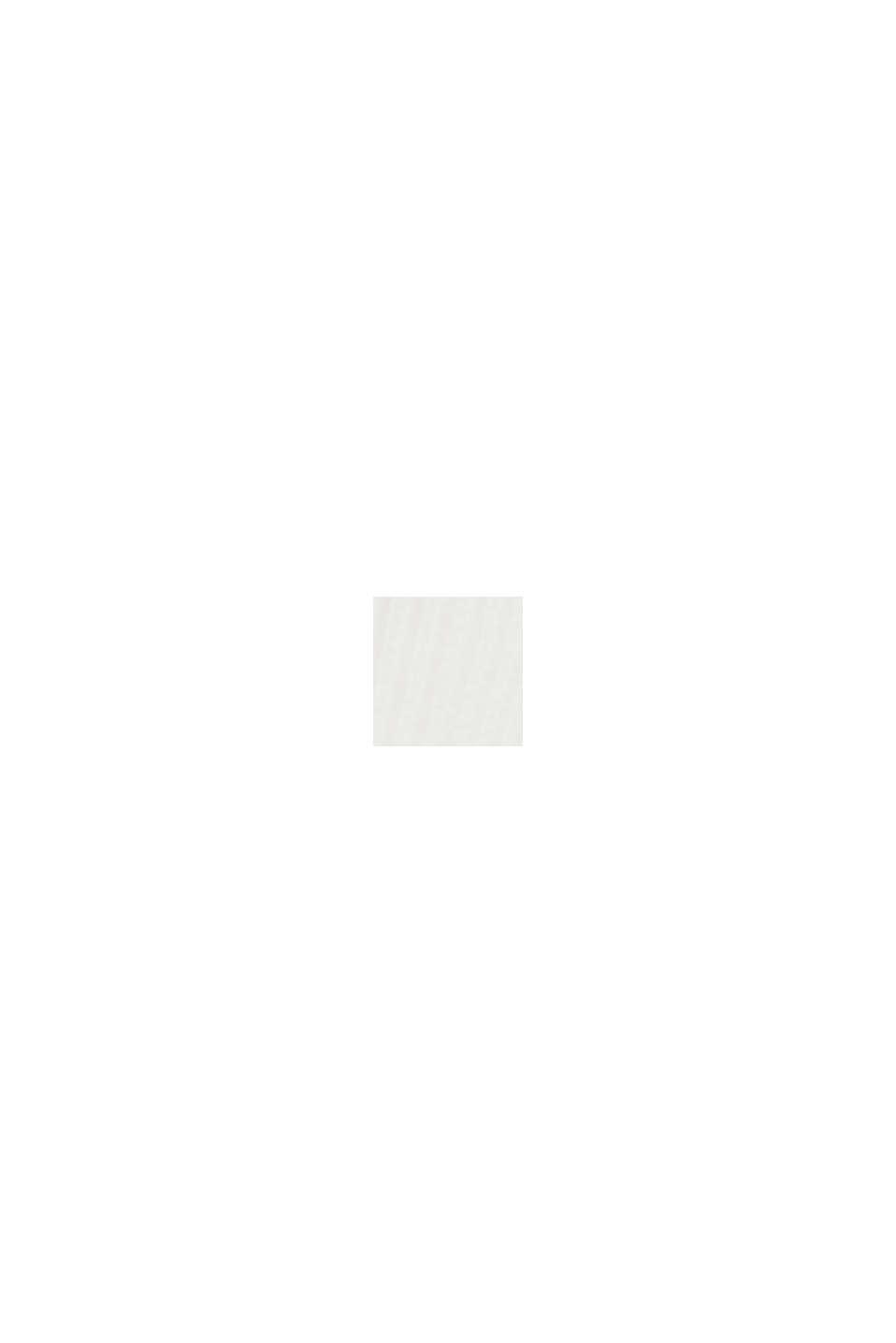 Sweat-shirt en coton biologique mélangé, OFF WHITE, swatch
