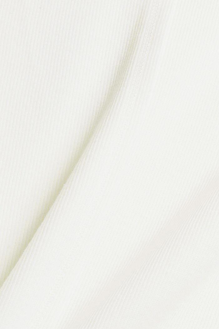 Sweat-shirt à col droit, coton bio mélangé, OFF WHITE, detail image number 4