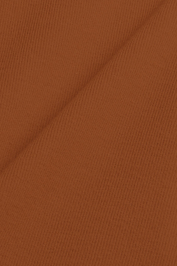 Sweatshirt met opstaande kraag, mix met biologisch katoen, TOFFEE, detail image number 4