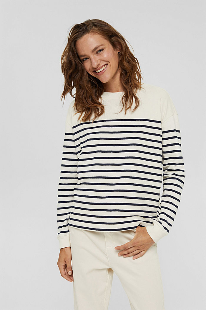 Sweatshirt made of 100% organic cotton, OFF WHITE, detail image number 0