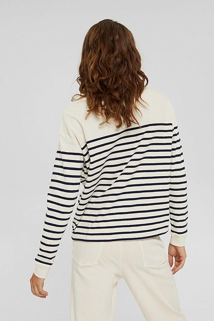 Sweatshirt made of 100% organic cotton, OFF WHITE, detail image number 3
