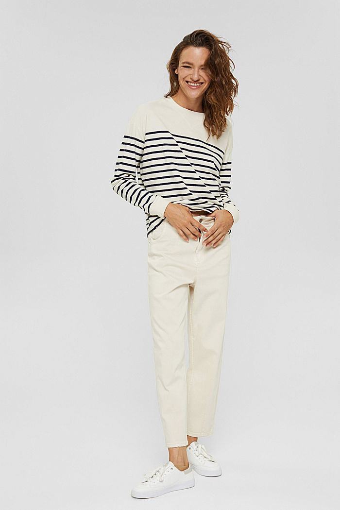 Sweatshirt made of 100% organic cotton, OFF WHITE, detail image number 6