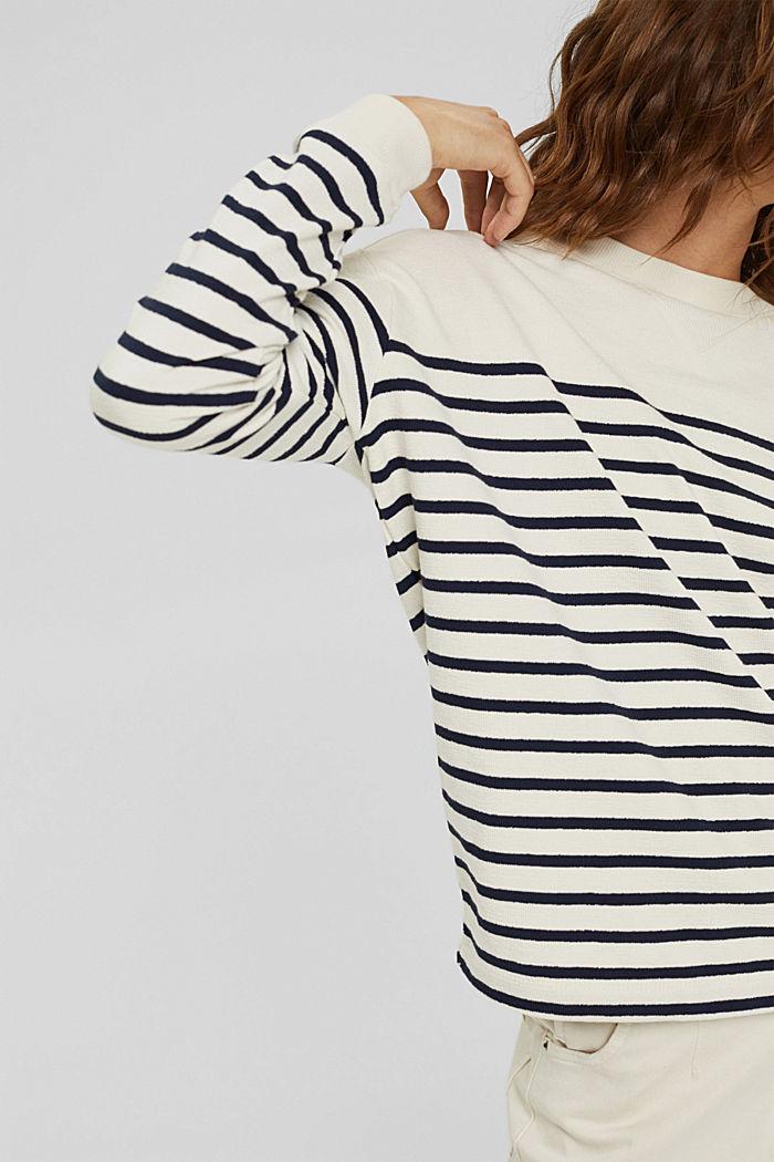 Sweatshirt made of 100% organic cotton, OFF WHITE, detail image number 2