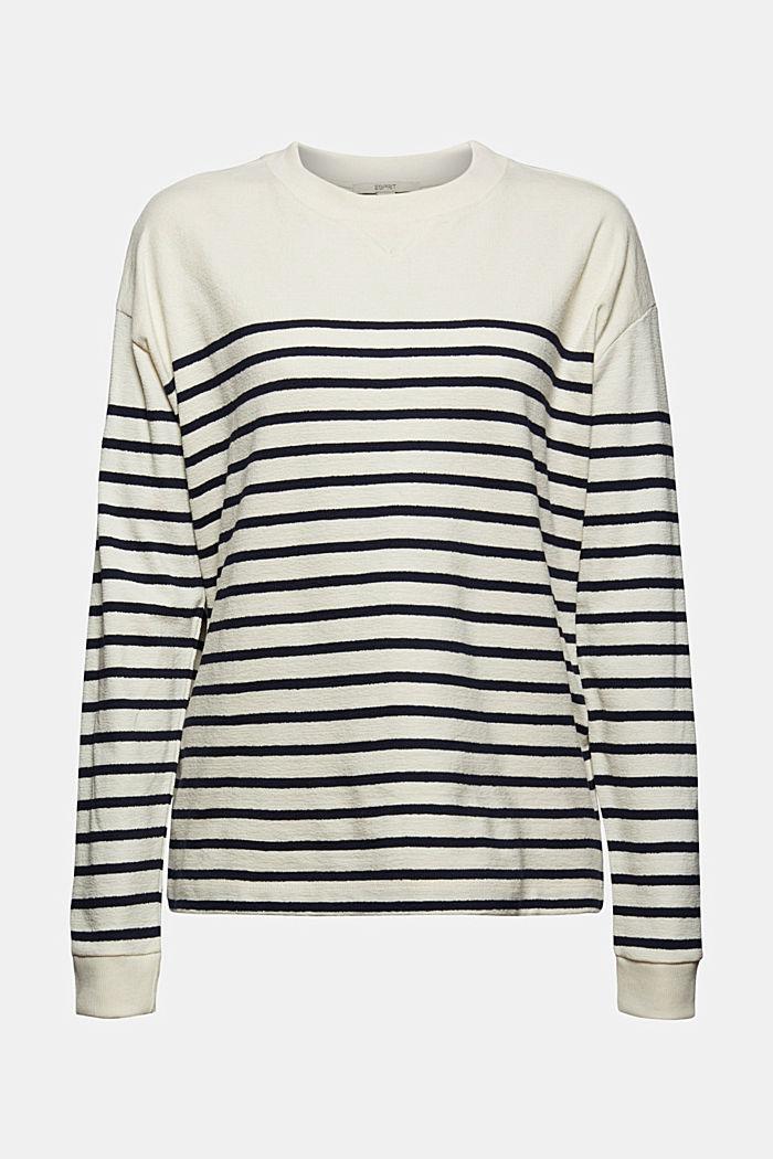 Sweatshirt made of 100% organic cotton, OFF WHITE, detail image number 7