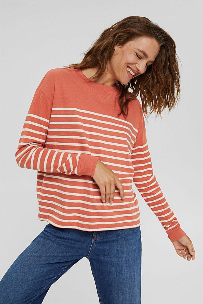 Sweatshirt made of 100% organic cotton, BLUSH, detail image number 0