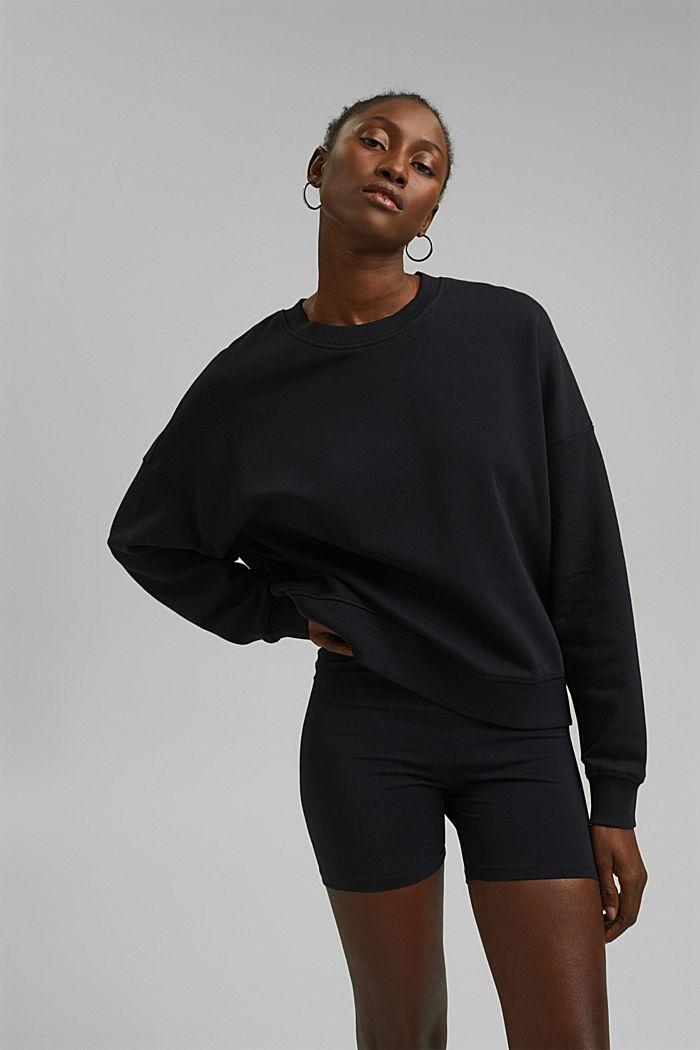 Sweat-shirt 100% coton biologique, BLACK, detail image number 0
