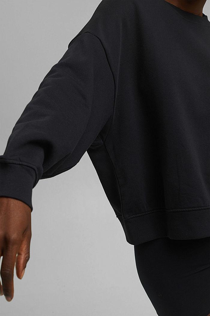 Sweat-shirt 100% coton biologique, BLACK, detail image number 2